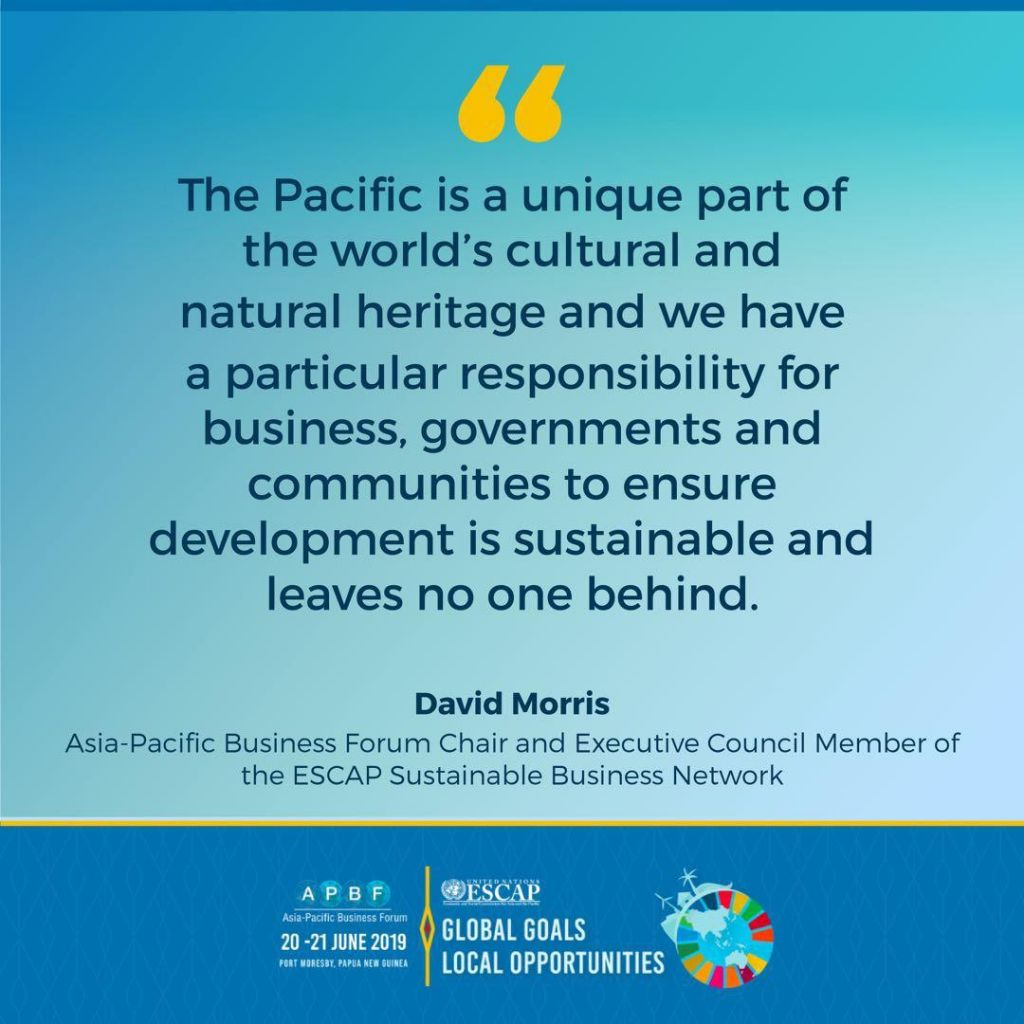 Asia Pacific Business Forum on Sustainable development at Port Moresby