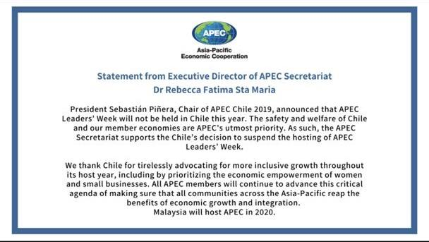 Statement from Executive Director of APEC Secretariat