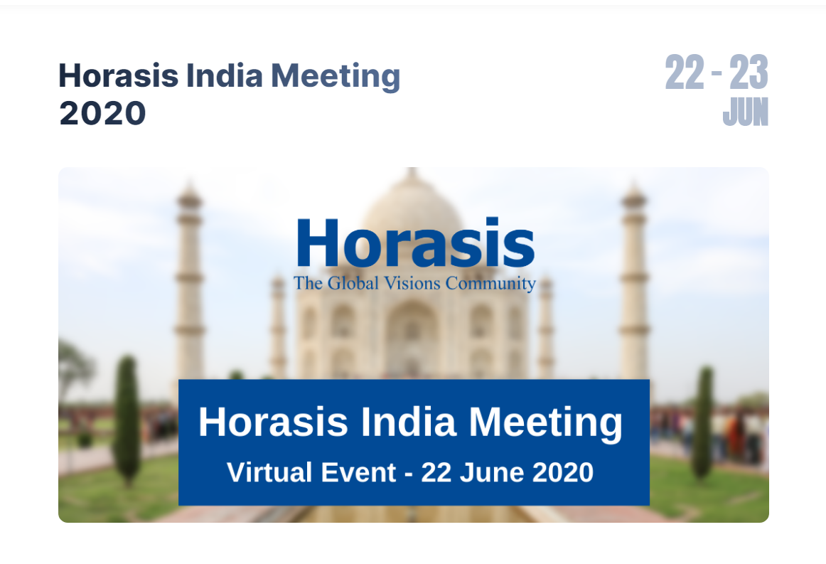 Jun 22 – 23, 2020 – Horasis India Meeting