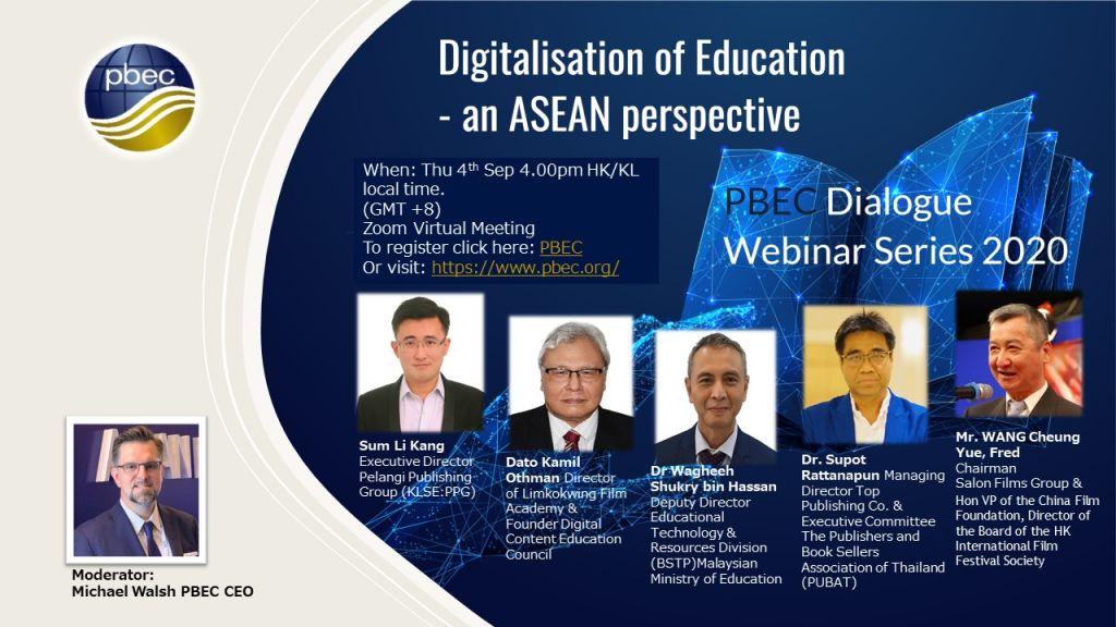 "PBEC Zoom webinar invitation – ""The digitalisation of Education"""