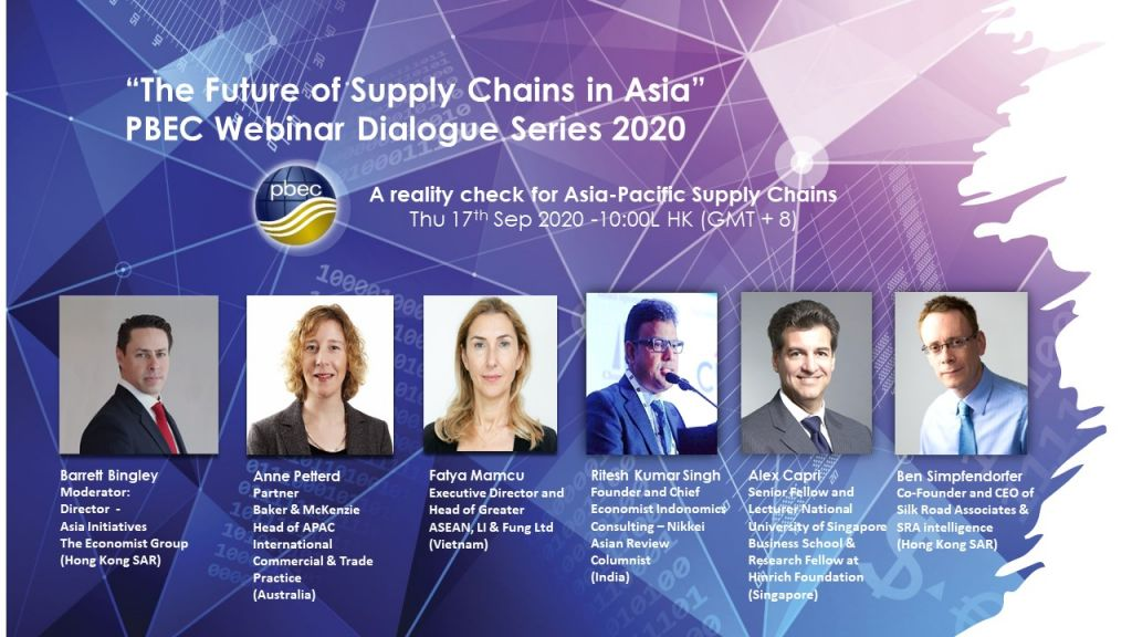 """PBEC Webinar Dialogue Series 2020 – """"The Future of Supply Chains in Asia"""""""