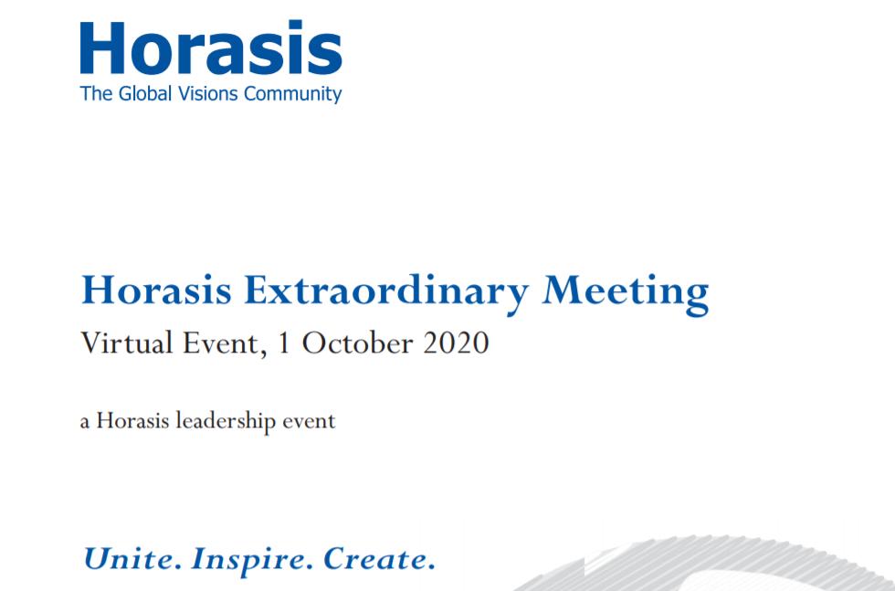 Horasis Extraordinary Meeting Report