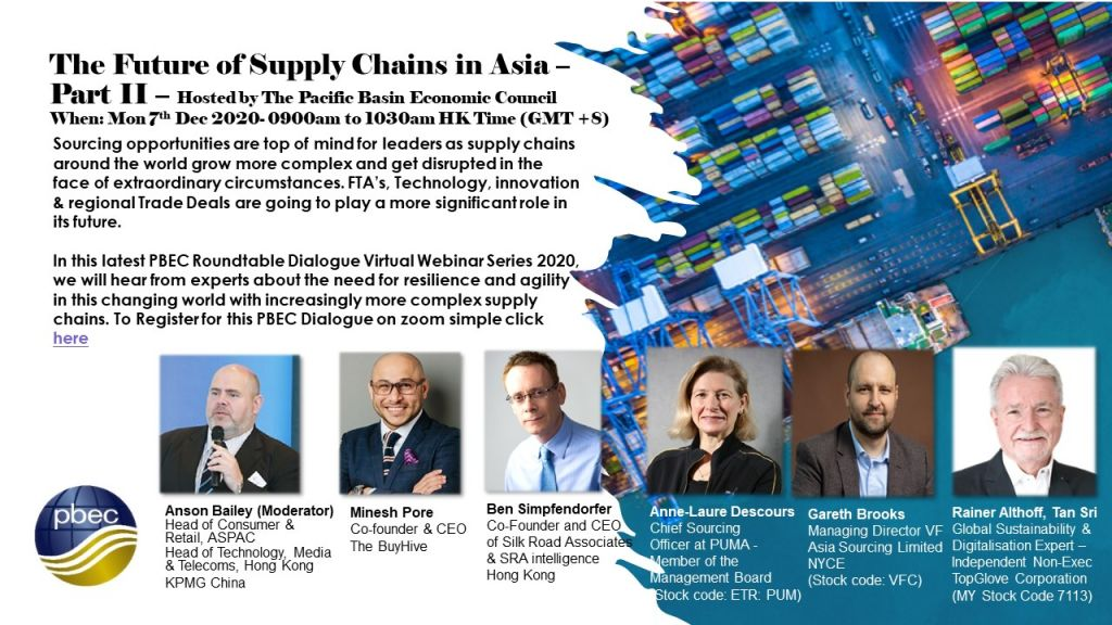 The Future of Supply Chains in Asia Part II – a hosted PBEC Virtual Roundtable Dialogue Meeting