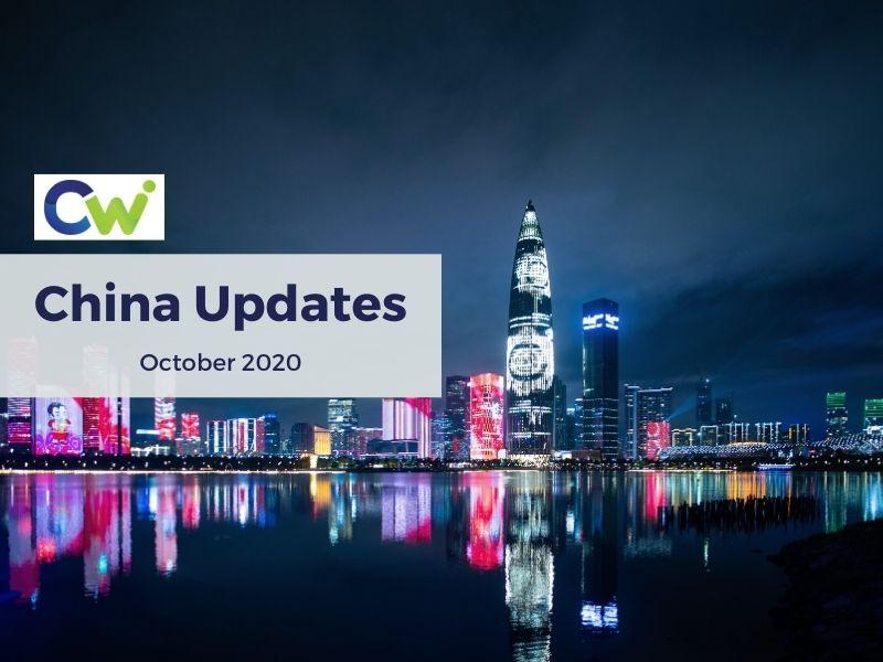 PBEC Member CW-CPA provides PBEC Members with latest updates from October 2020 on China Mainland Tax & licencing sectors