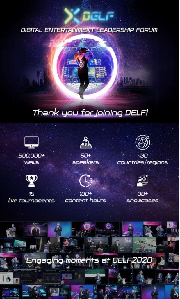 "DELF2020 – Digital Entertainment Leadership Forum"" hosted by PBEC Corporate Member Cyberport HK."