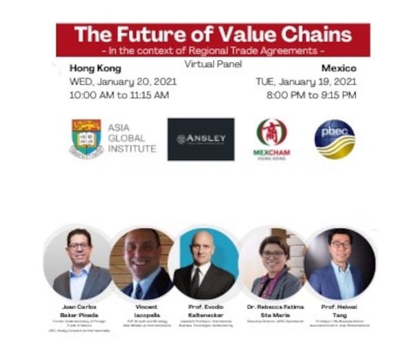 The Future of Value Chains – co-organised with Mexcham Hong Kong