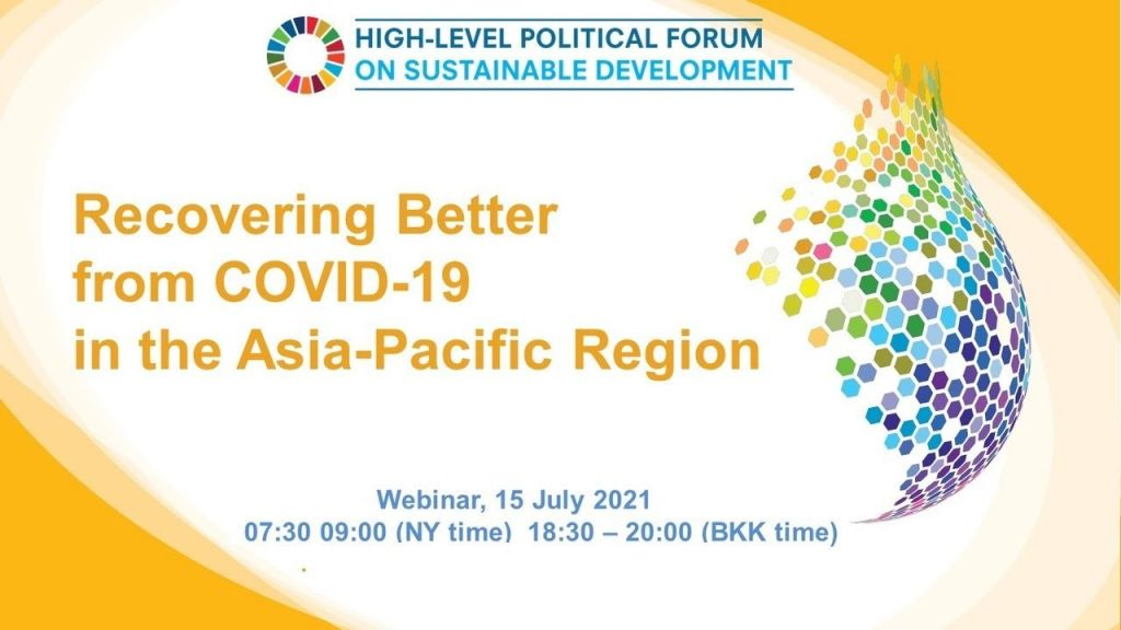 Event invitation – Recovering Better from COVID-19 in the Asia-Pacific Region