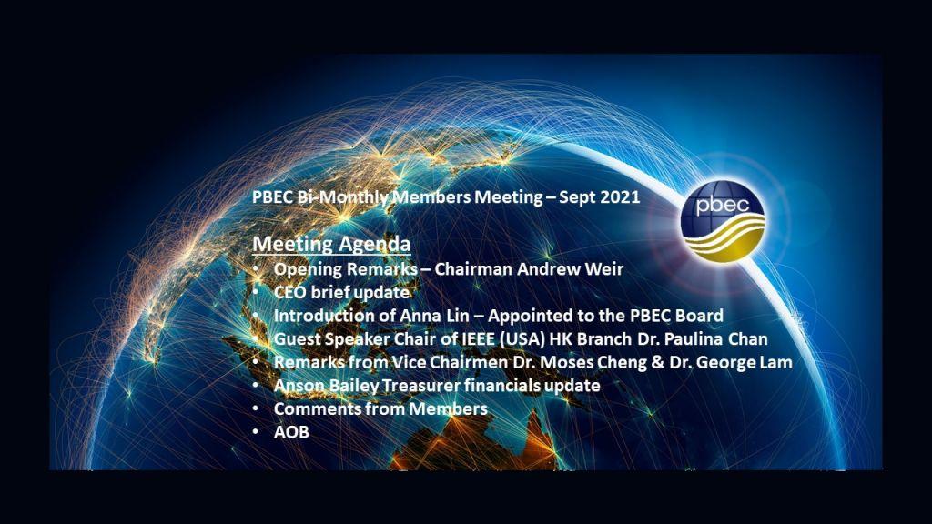 PBEC Bi-Monthly Members Meeting – September 2021